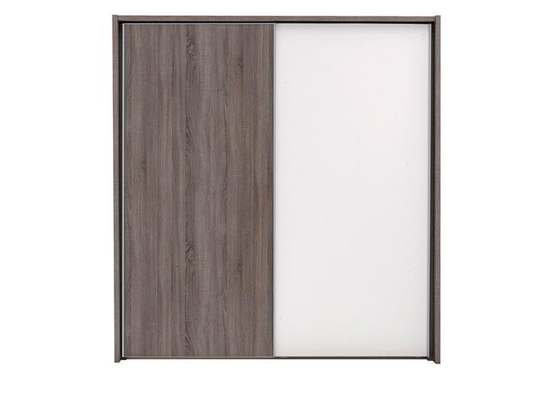 Melbourne 2 Door Sliding Wardrobe - Oak & White - Medium