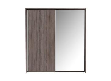 Melbourne 2 Mirror Door Sliding Wardrobe - Oak - Medium