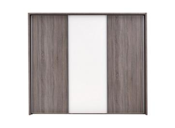 Melbourne 3 Door Sliding Wardrobe - Oak & White - Large