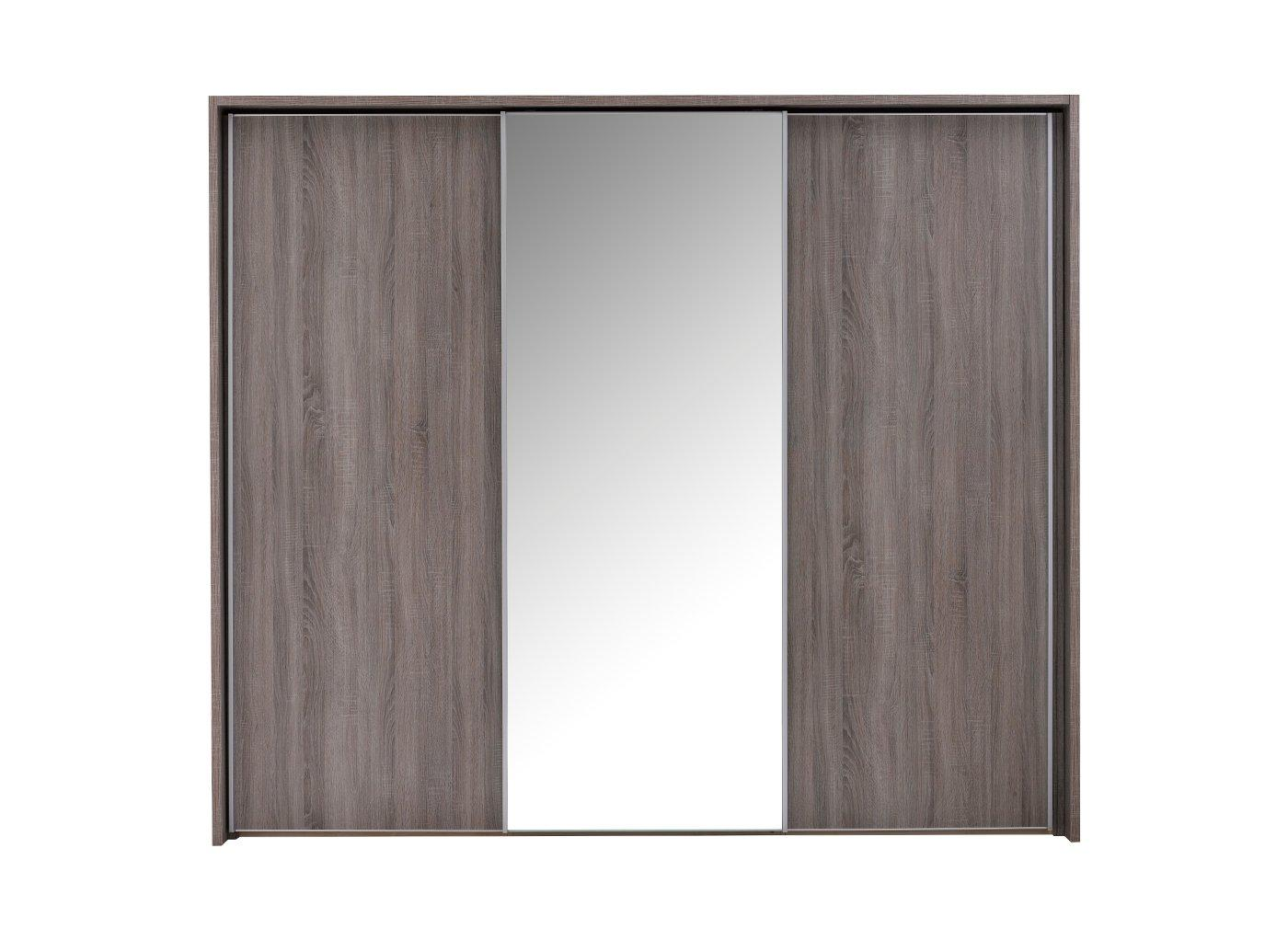 Melbourne 3 Mirror Door Sliding Wardrobe – Oak (£999)