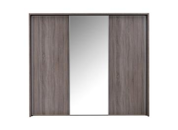 Melbourne 3 Mirror Door Sliding Wardrobe - Oak