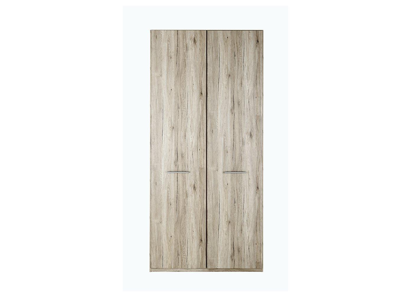 Samara 2 Door Wardrobe - Oak BROWN
