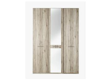 Samara 3 Door Wardrobe with Mirror - Oak