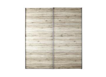 Samara 2 Door Small Sliding Wardrobe - Oak