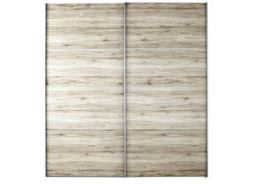 Samara 2 Door Medium Sliding Wardrobe - Oak
