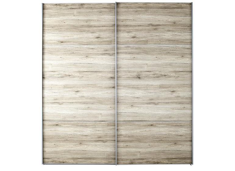 Samara 2 Door Medium Sliding Wardrobe - Oak BROWN