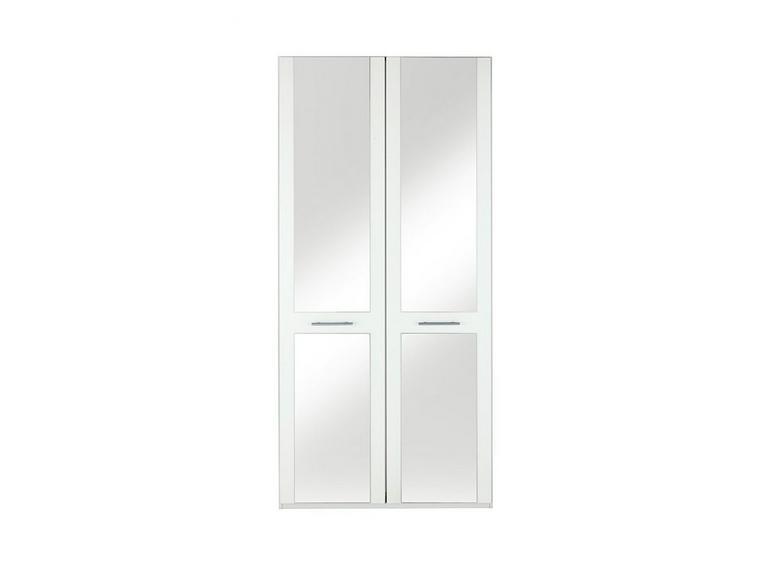 Samara 2 Door Wardrobe with Mirrors - White