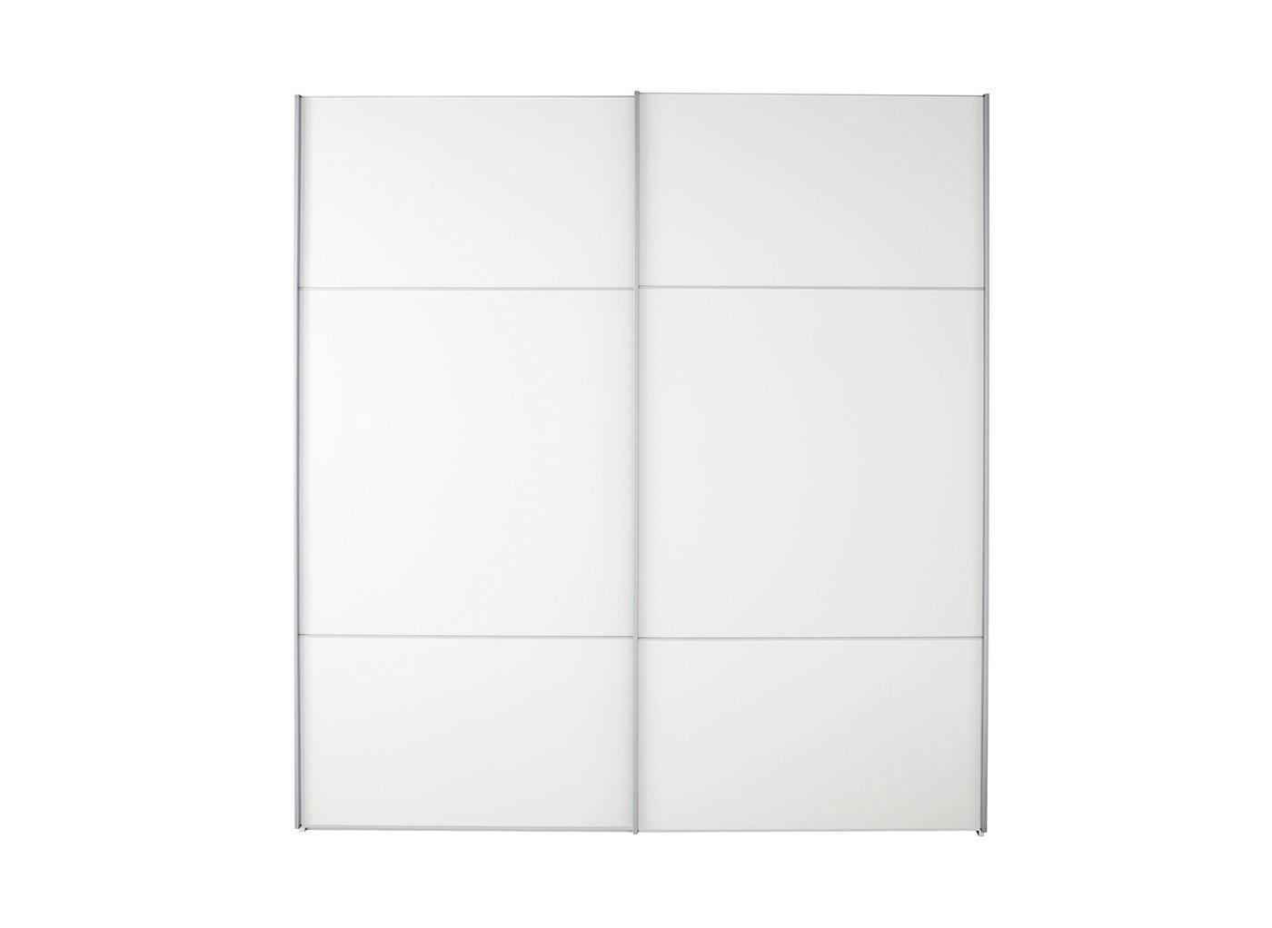 Samara 2 Door Medium Sliding Wardrobe - White