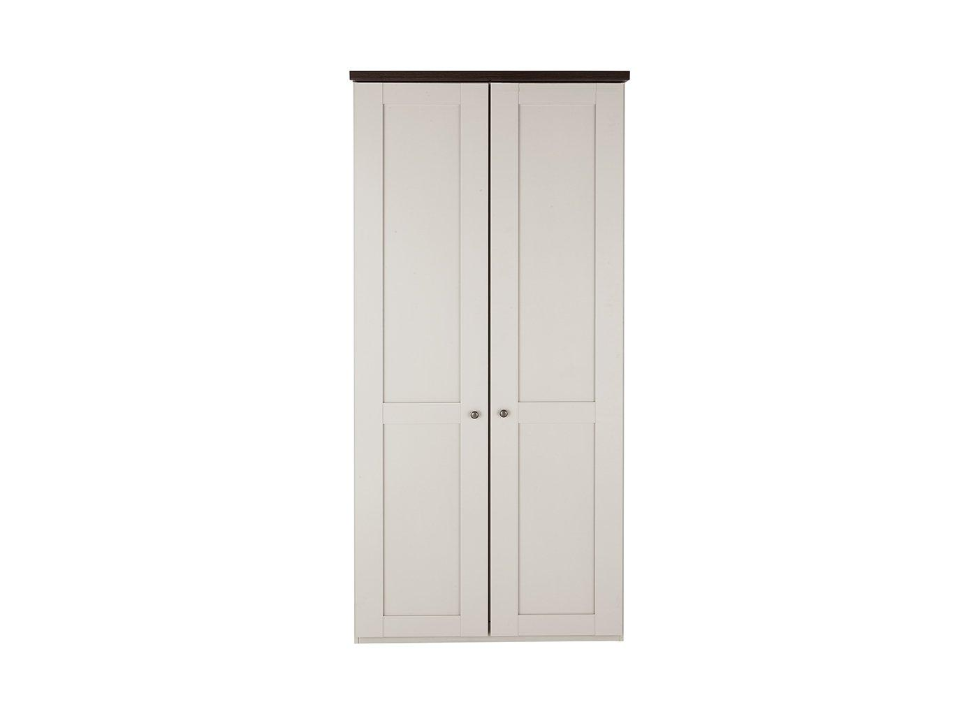 Sloane 2 Door Wardrobe – Champagne and Dark Wood (£599)