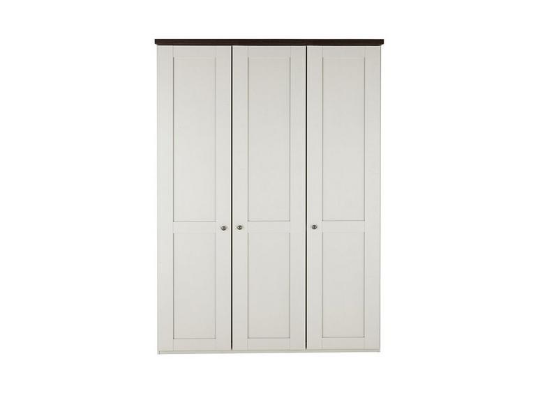 Sloane 3 Door Wardrobe - Champagne and Dark Wood CREAM