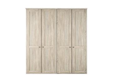 Sloane 4 Door Wardrobe - Rustic Oak