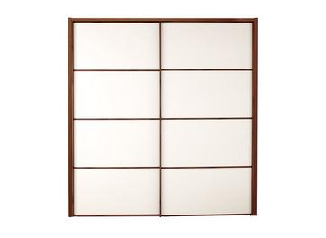 Cali 2 Door Sliding Wardrobe Champagne & Wood - Small