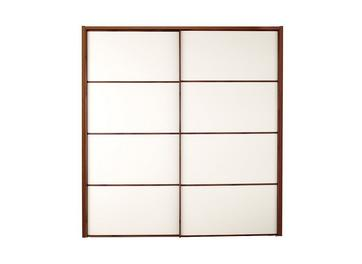 Cali 2 Door Sliding Wardrobe Champagne & Wood - Medium