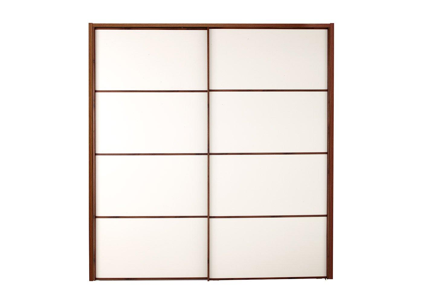 Cali 2 Door Sliding Wardrobe Champagne & Wood - Large CREAM