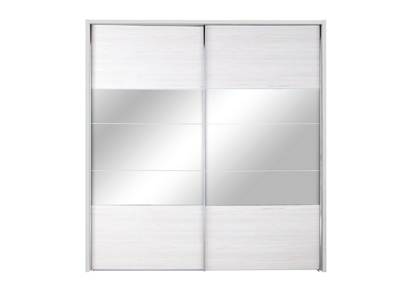 Fiji 2 Door Sliding Wardrobe Polar - Large WHITE