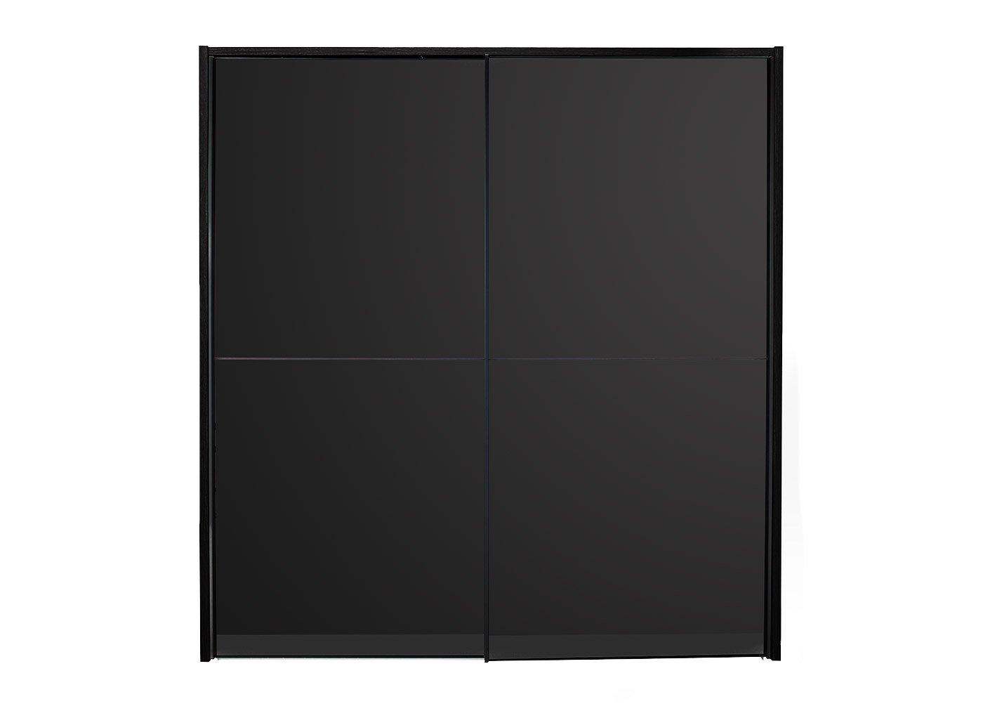Trinidad 2 Door Small Sliding Wardrobe - Black