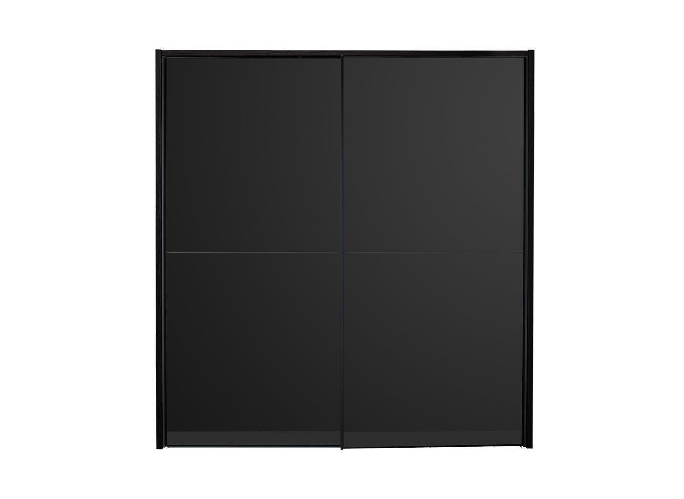 Trinidad 2 Door Medium Sliding Wardrobe - Black
