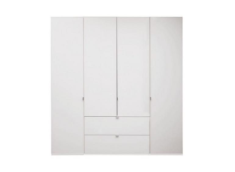 Memphis 4 Door Combi Wardrobe - White