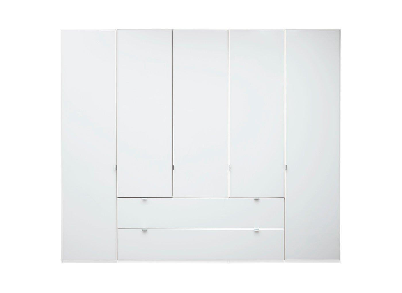 Memphis 5 Door Combi Wardrobe – White (£1,599)