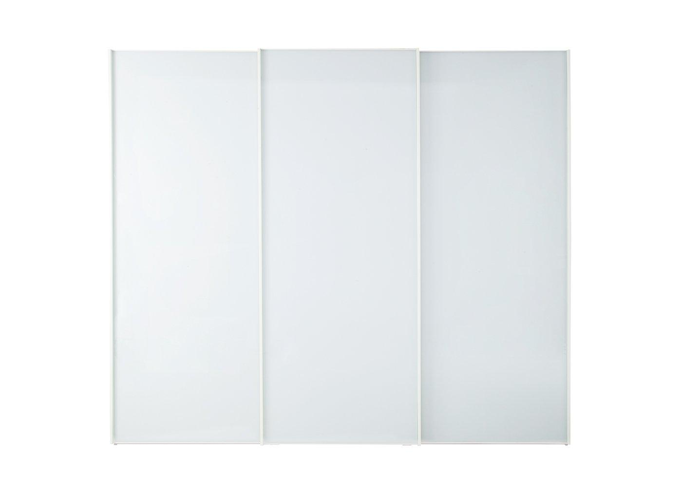 Memphis 3 Door Sliding Wardrobe – White – Large (£1,699)