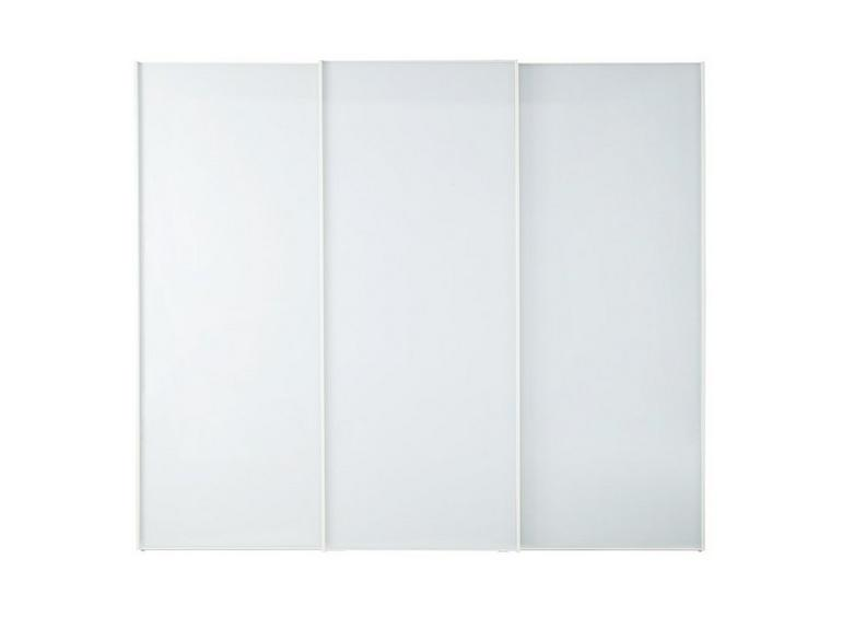 Memphis 3 Door Sliding Wardrobe - White - Large