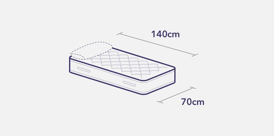 How many cm wide is a single bed