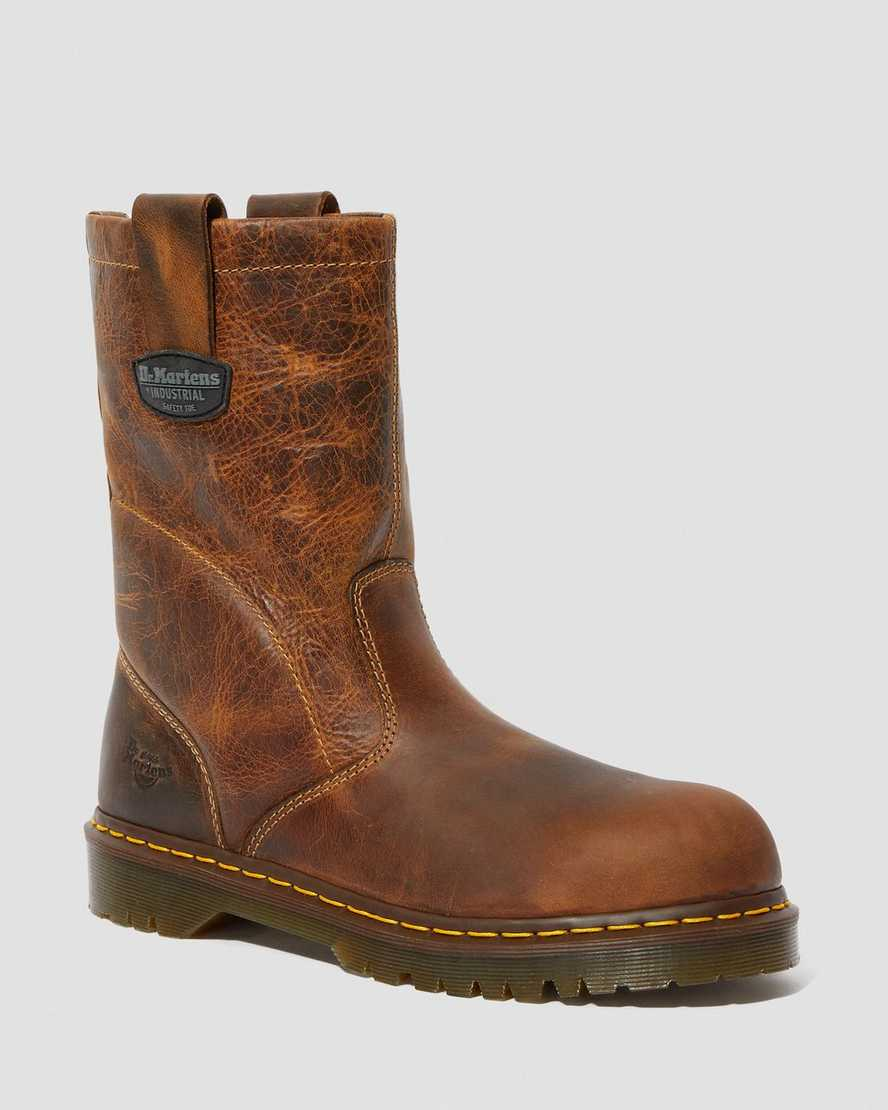 ICON 2295 LEATHER STEEL TOE SLIP ON WORK BOOTS | Dr Martens