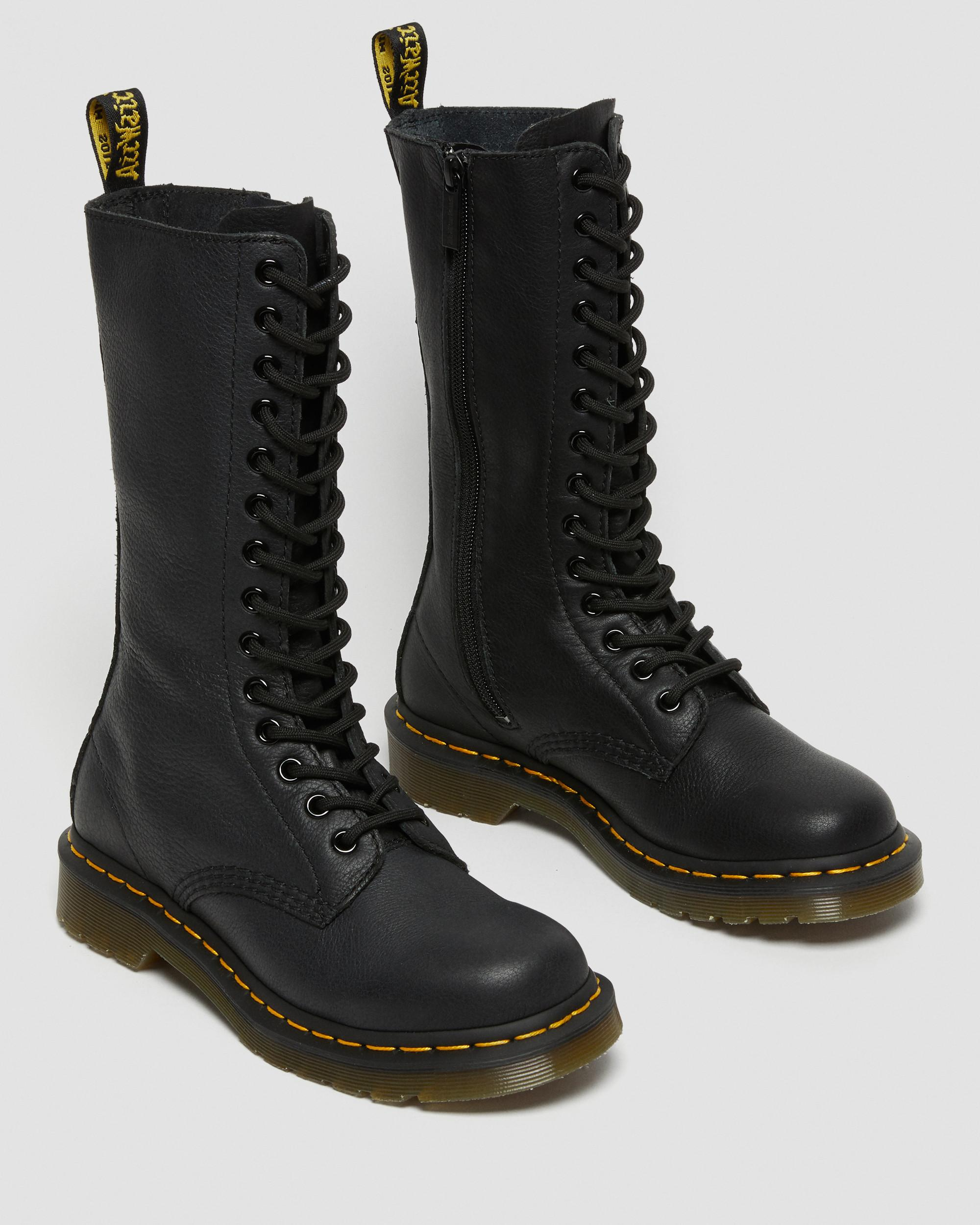 DR MARTENS 1B99 VIRGINIA LEATHER KNEE HIGH BOOTS