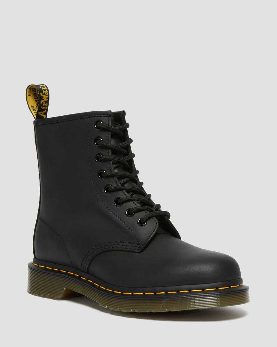 1460 Greasy Leather Lace Up Boots Dr Martens Official