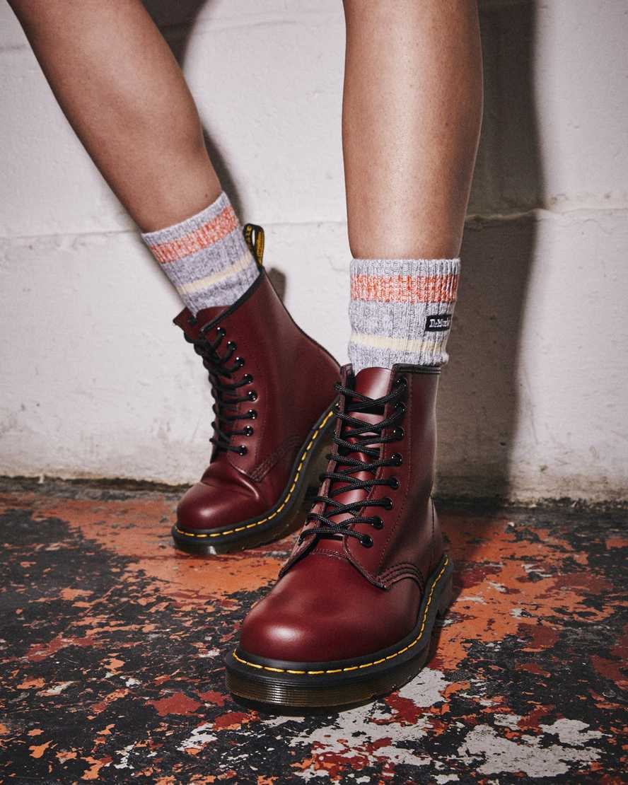 Dr.Martens 1490Z Cherry Smooth Leather Womens Boots