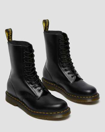 Women/'s Shoes Dr Martens 1490 Leather 10 Eye Boots 11857001 BLACK SMOOTH