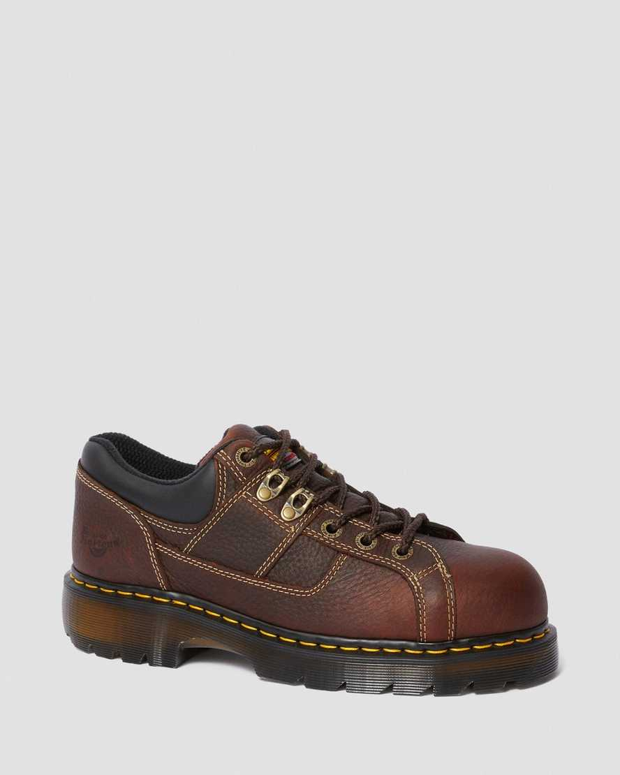 Gunby Leather Steel Toe Work Shoes   Dr Martens