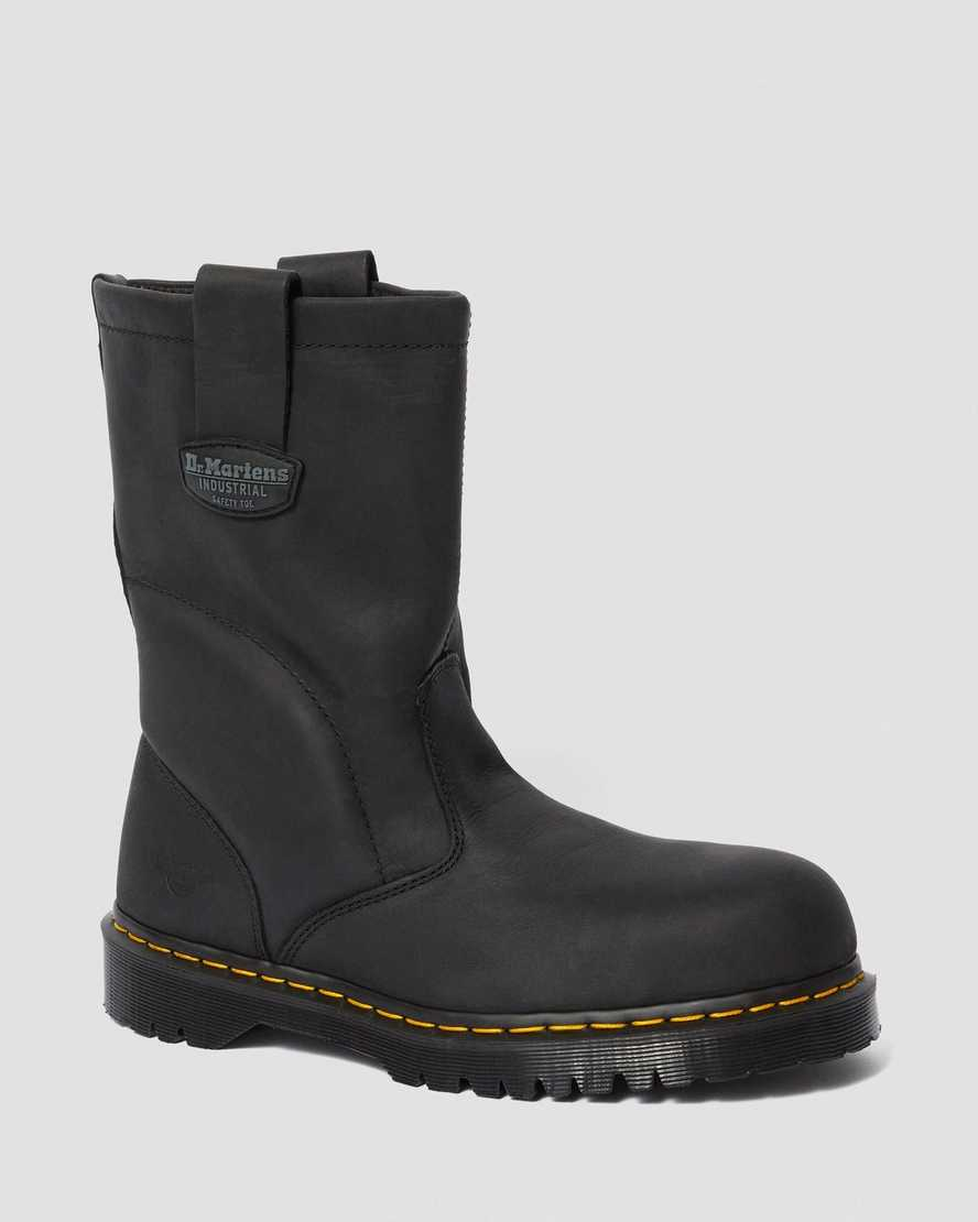 2295 EXTRA WIDE GREASY SLIP ON WORK BOOTS | Dr Martens