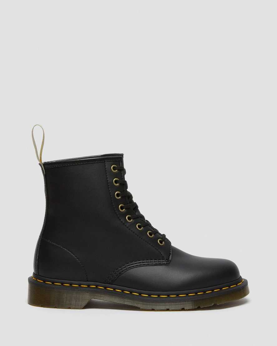Dr Martens Vegan 1460 Black Felix Rub Off Women/'s Boots