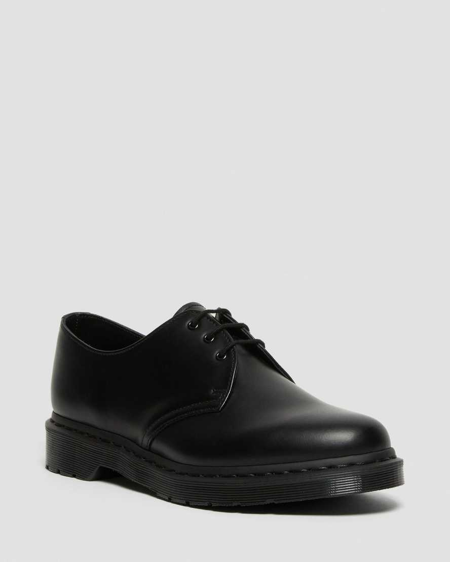 MARTENS MONO 1461 BOOTS 14345001 BLACK SMOOTH DR