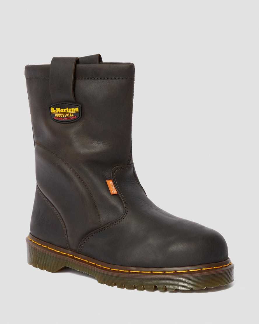 2295 EXTRA WIDE MET GUARD LEATHER SLIP ON WORK BOOTS | Dr Martens