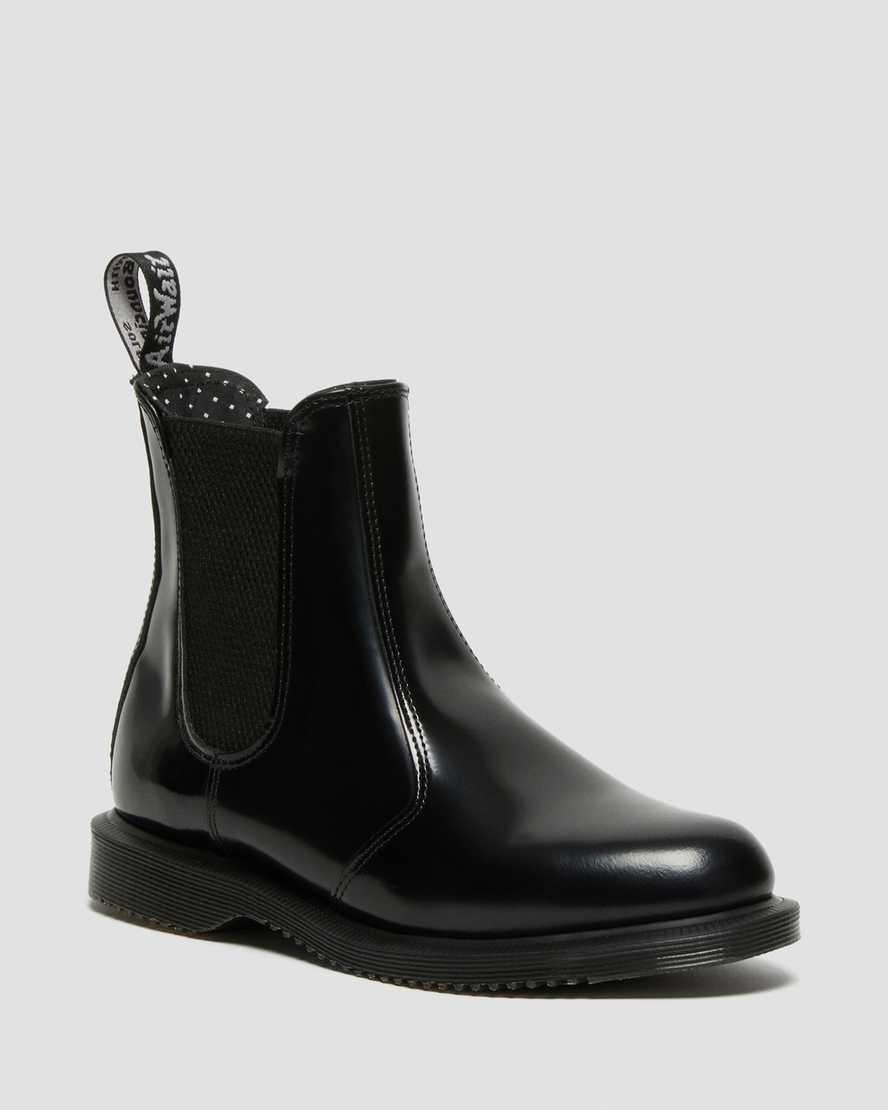 premium selection 52fe3 fb917 DR MARTENS FLORA SMOOTH CHELSEA BOOTS