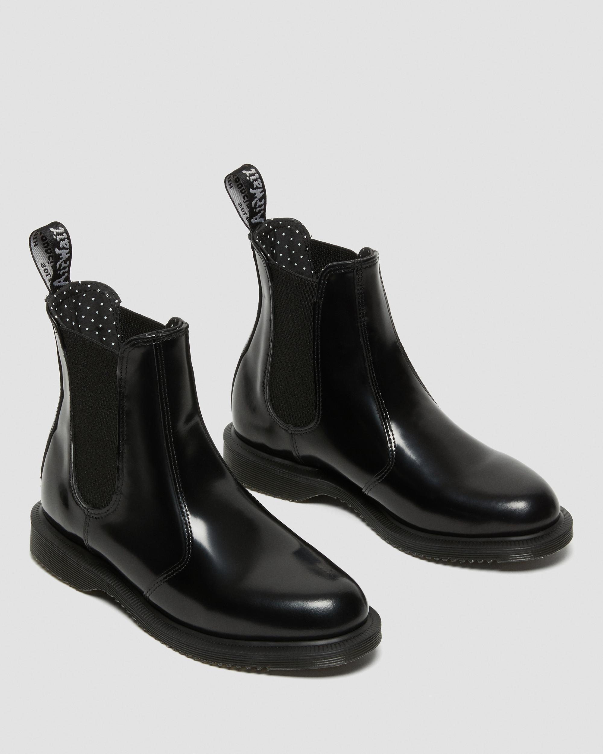 Dr. Martens Black Vegan Flora Chelsea Boot