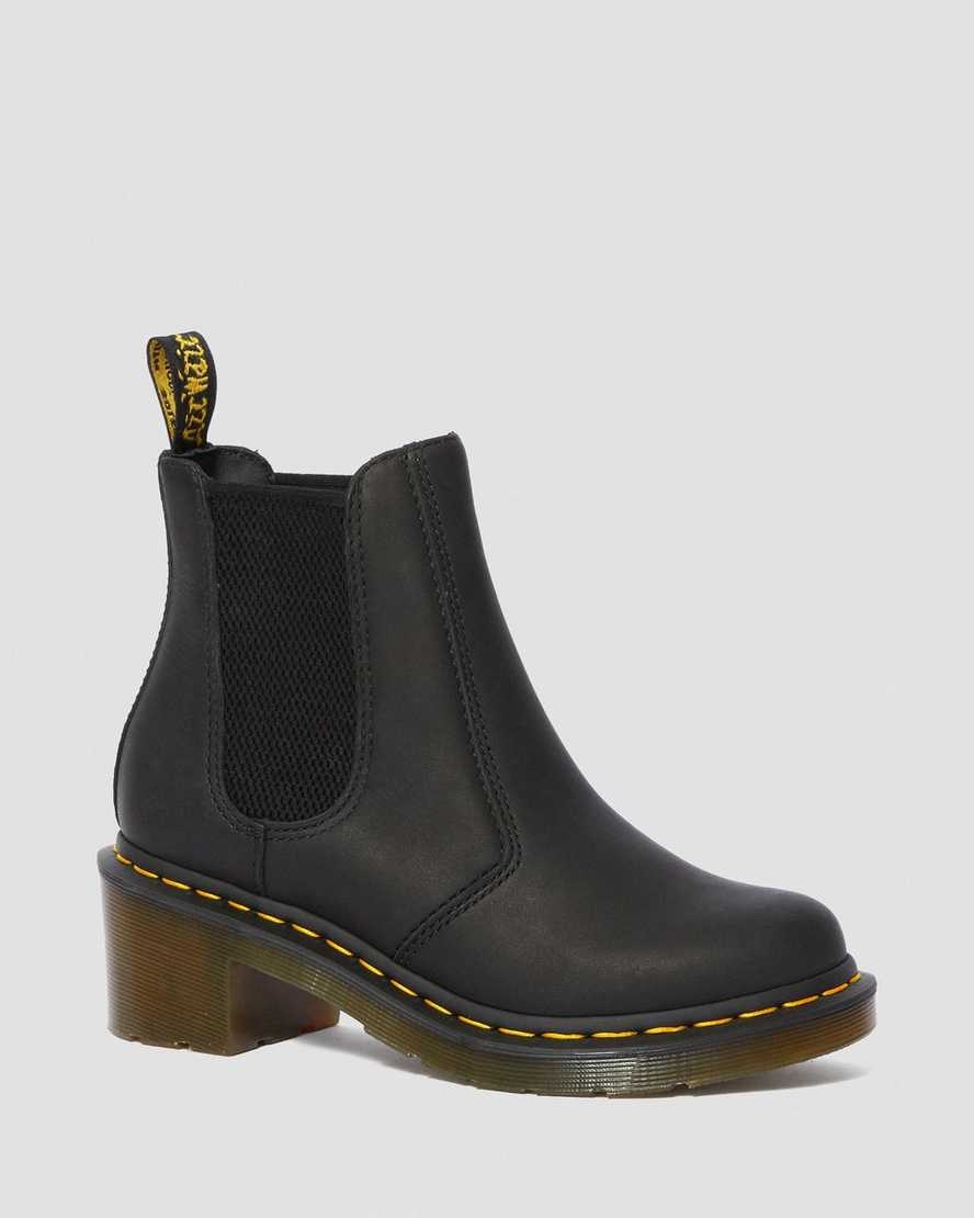 CADENCE GREASY HEELED CHELSEA BOOTS | Dr Martens