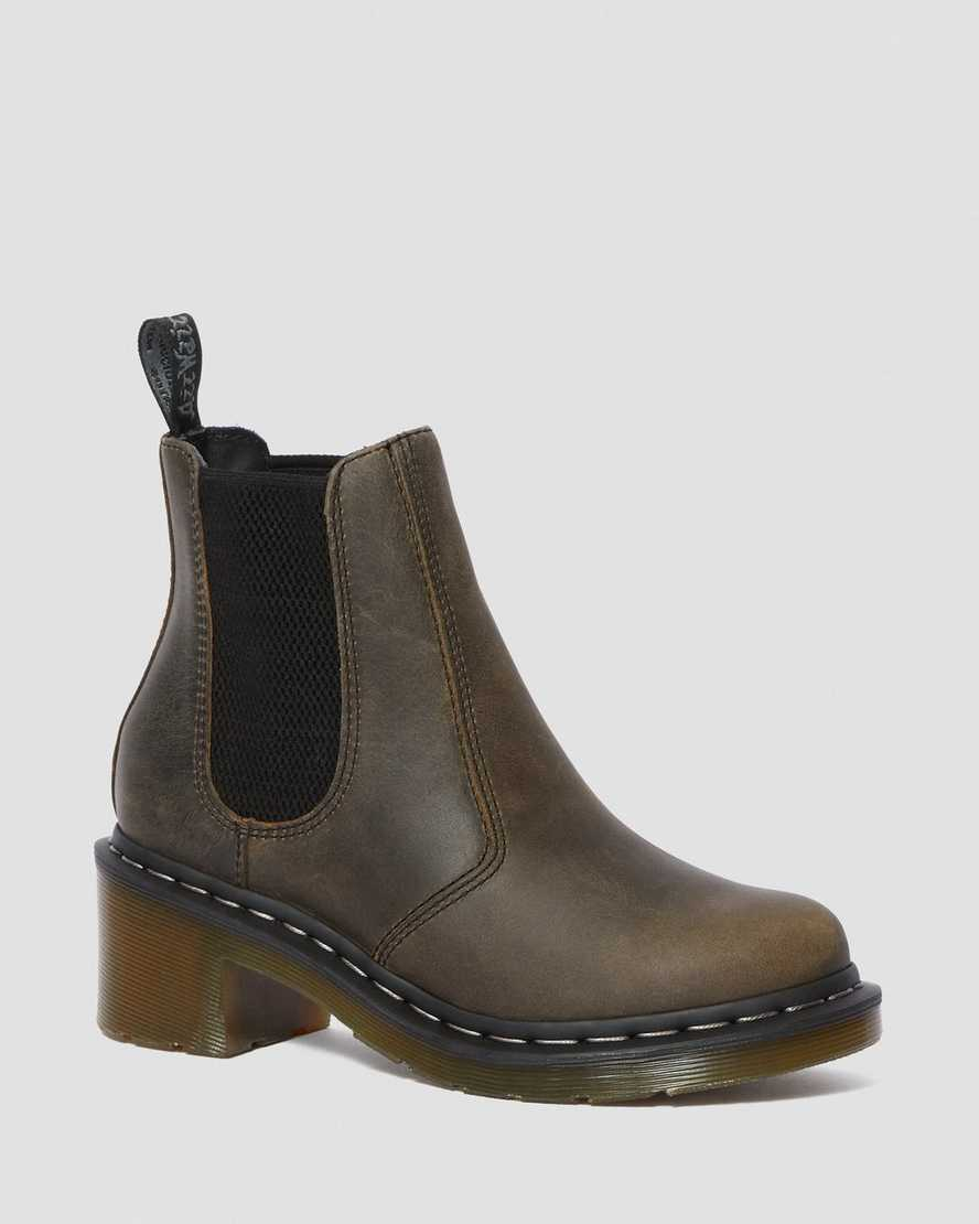 Cadence Greenland Heeled Chelsea Boots | Dr Martens