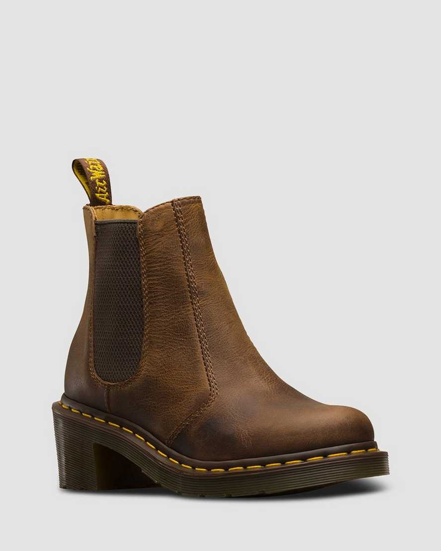 Cadence Greenland Heeled Chelsea Boots   Dr Martens