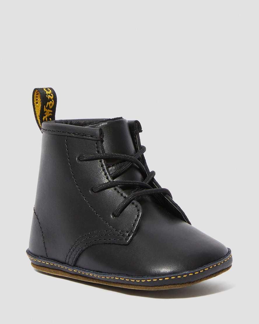 Newborn 1460 Auburn Leather Booties | Dr Martens