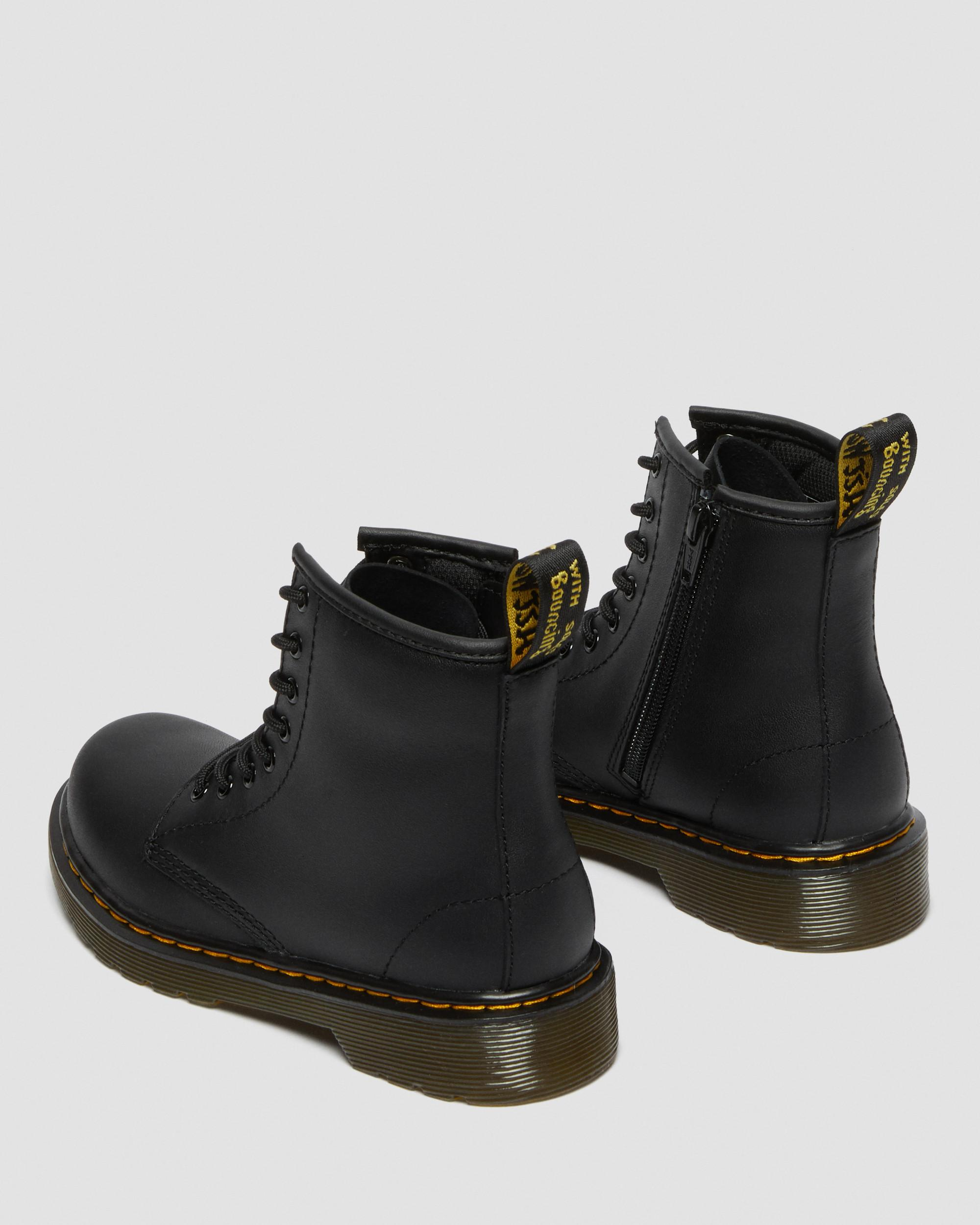 Dr.Martens Delaney 8-Eyelet Cherry Red Youth Softy T Leather Ankle Boots