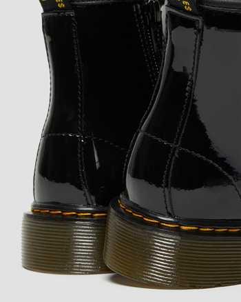 DR MARTENS 1460 BLACK PATENT BOOTS CHILDRENS GIRLS JUNIOR RRP £60 T