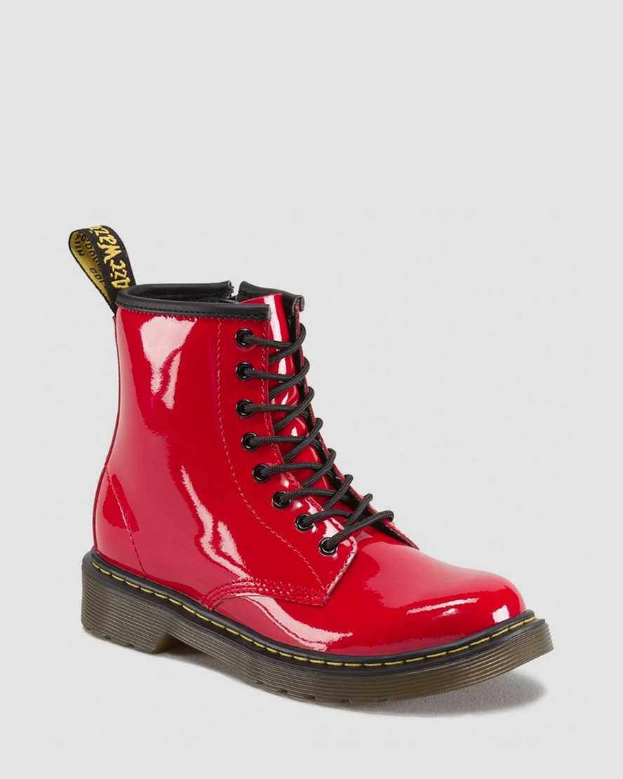 Junior 1460 Patent Leather Lace Up Boots   Dr Martens