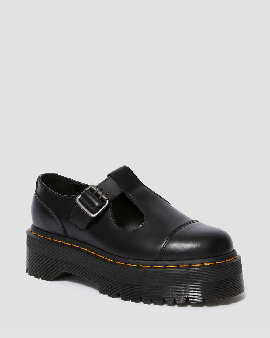 Bethan Smooth Leather Platform Mary Jane Shoes | Dr Martens