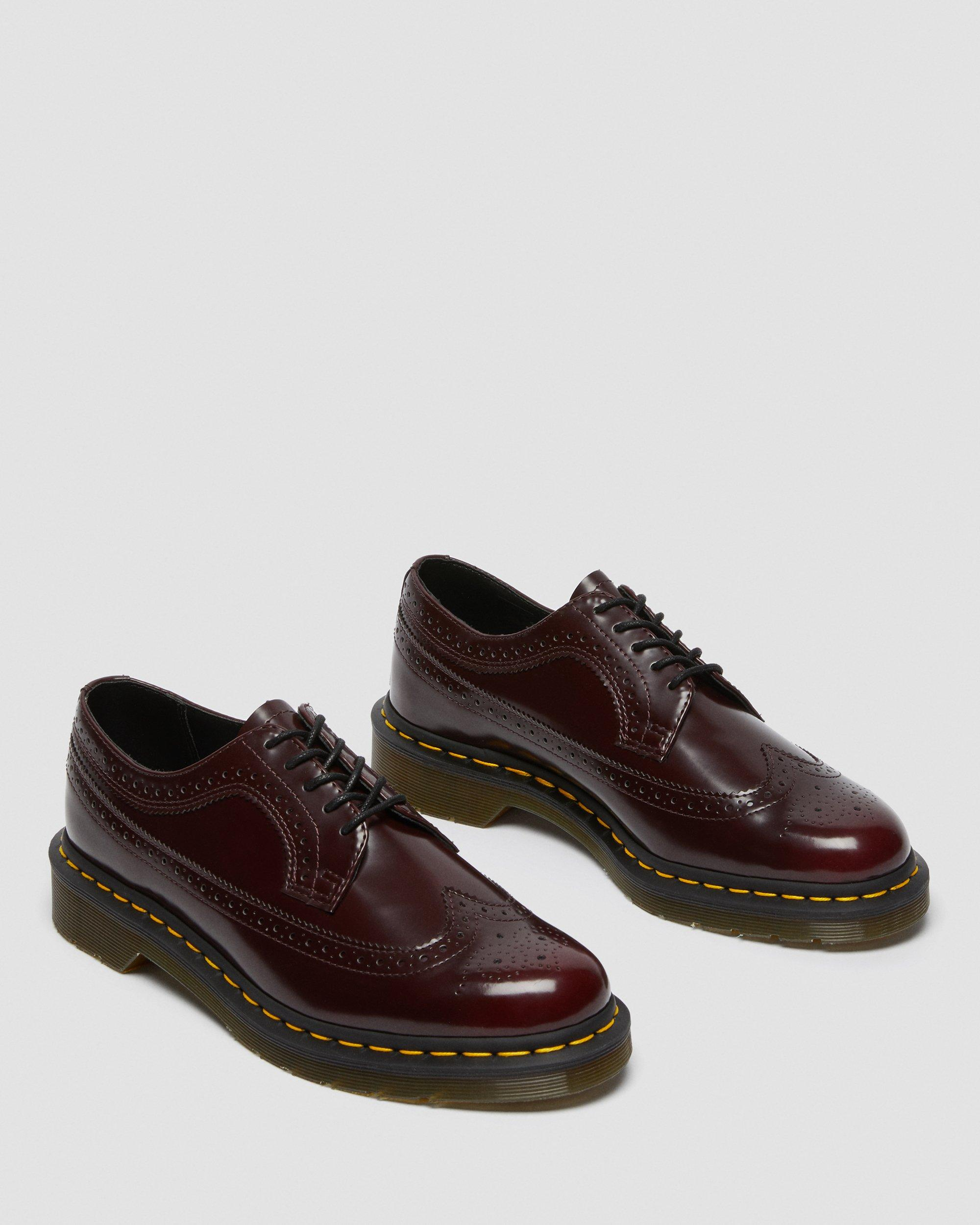 Cherry Red Oxford Brush Dr Martens Vegan 3989 | Summer Shoes