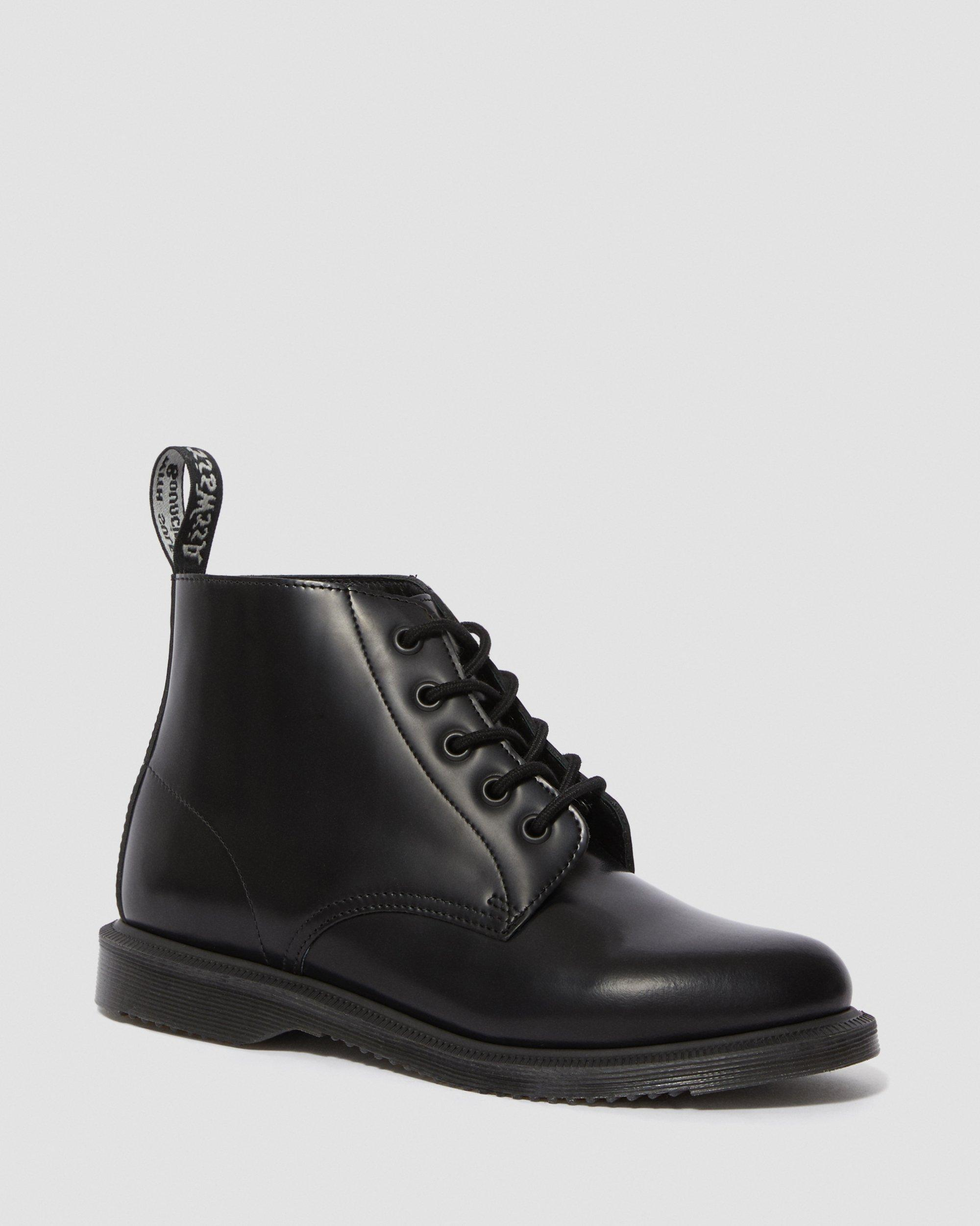 Dr.Martens 5 Eyelets Emmeline Polished Smooth Black Womens Boots