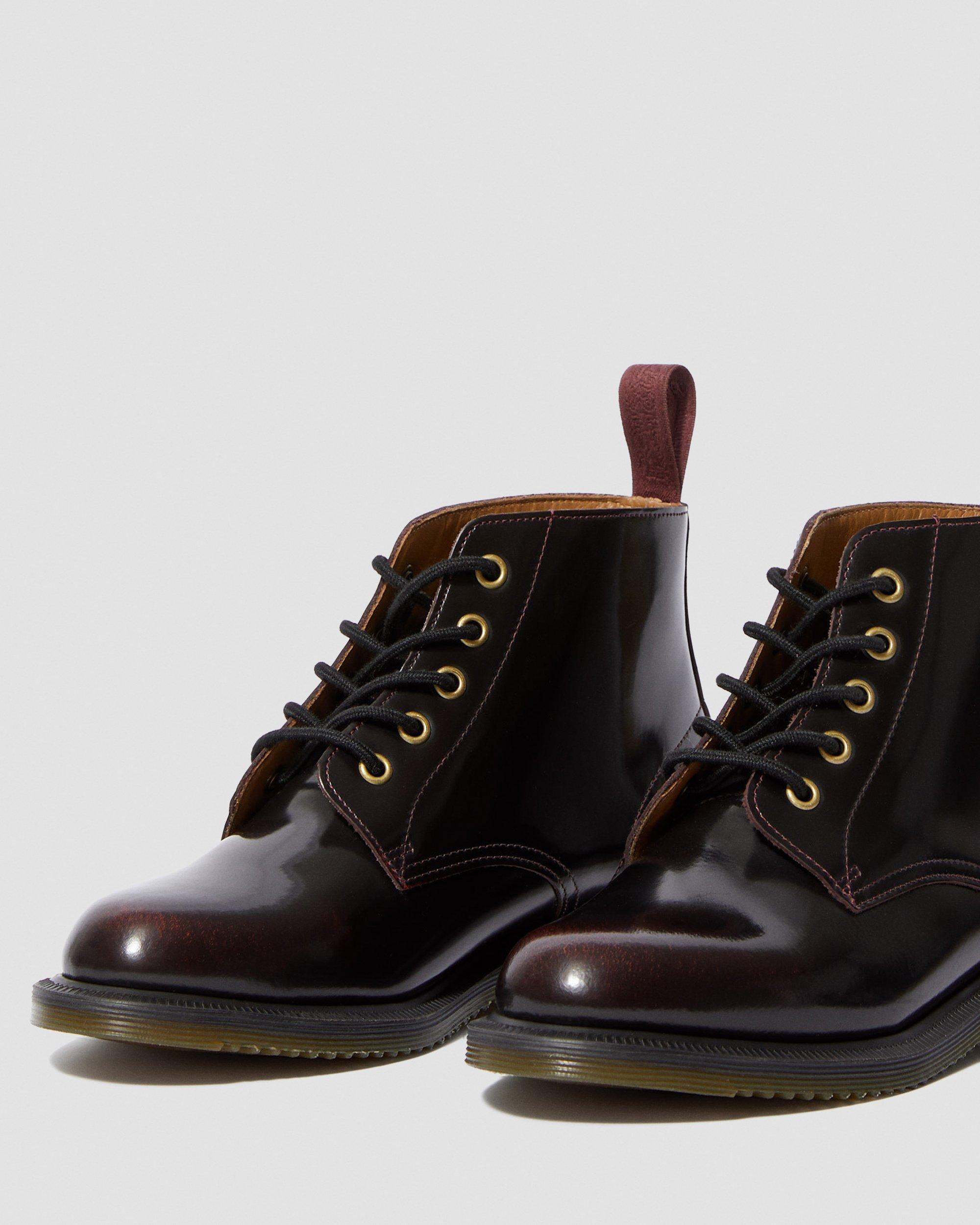 Dr Martens Leather Up Boots Emmeline Ankle Lace PwXZiOTku