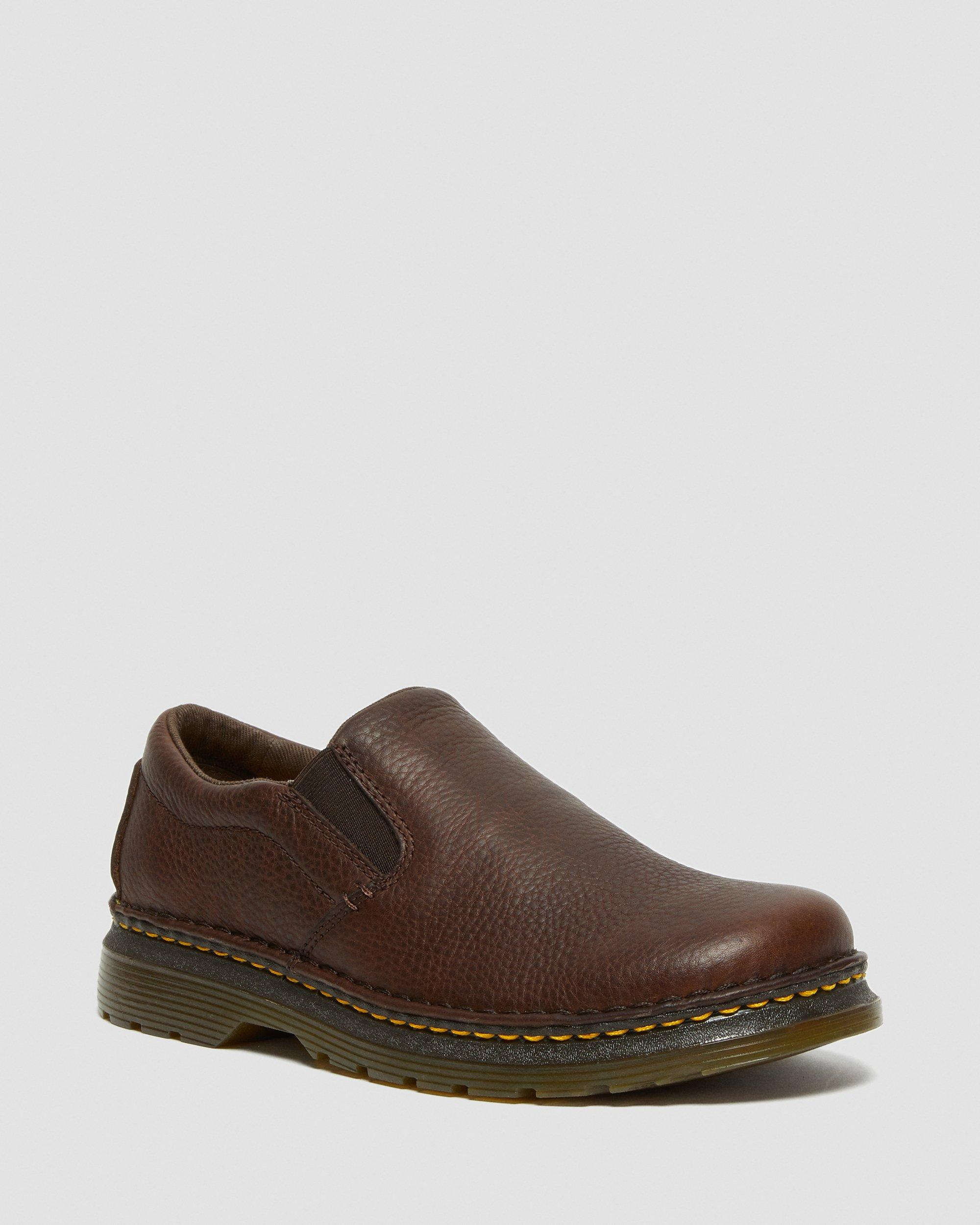 GRIZZLY LEATHER SLIP ON SHOES | Dr. Martens